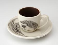 Espresso Cup and Saucer: Hedgehog #1