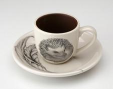 Espresso Cup and Saucer: Hedgehog #2