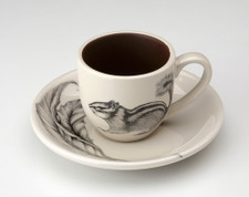Espresso Cup and Saucer: Chipmunk #2