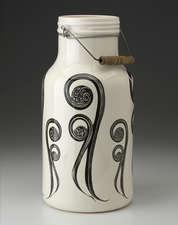 Jug with Handle: Fiddlehead Fern