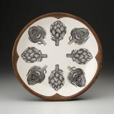 Small Round Platter: Artichoke
