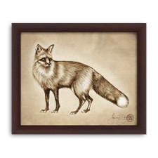 Prints : Red Fox 8X10 Framed