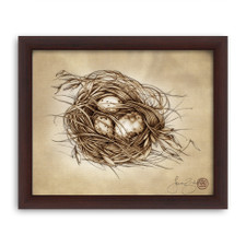 Prints : Quail Nest 8X10 Framed