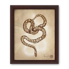Prints : Leopard Snake 8X10 Framed