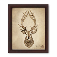 Prints : Red Stag 8X10 Framed