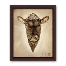Prints : Angus Bull, 8X10 Framed