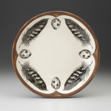 Small Round Platter: Quail Feather & Egg