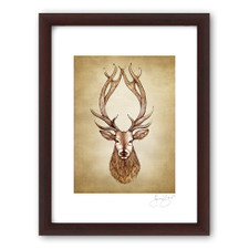 Prints : Red Stag, 11X14 Framed