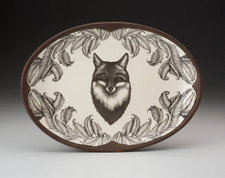 Small Oval Platter: Fox Portrait