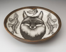 Small Pasta Bowl: Fox Portrait