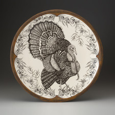 Large Round Platter: Turkey