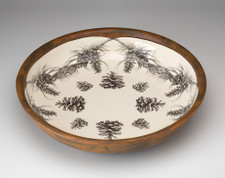 Small Pasta Bowl: Pine Branch
