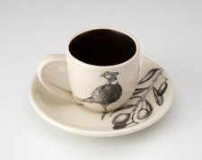 Espresso Cup and Saucer: Pheasant #1