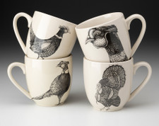 Set of 4 Mugs: Pheasant