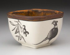 Small Square Bowl: Pheasant #1