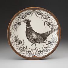Small Round Platter: Pheasant