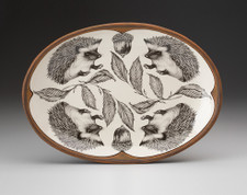 Small Oval Platter: Hedgehog #1