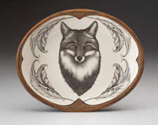 Small Serving Dish: Fox Portrait