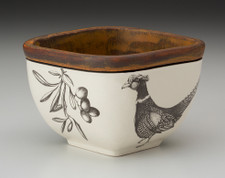 Small Square Bowl: Pheasant #2