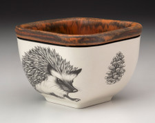 Small Square Bowl: Hedgehog #1