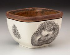 Small Square Bowl: Hedgehog #2