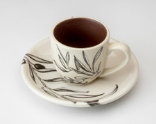 Espresso Cup and Saucer: Olive Bunch