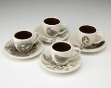 Espresso Set of 4: Quails #2