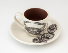Espresso Cup and Saucer: Blue Crab