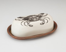 Butter Dish: Blue Crab