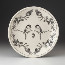 Small Round Platter: Black-capped Chickadee