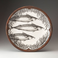 Large Round Platter: Mackerel