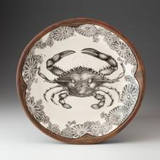 Small Round Platter: Blue Crab