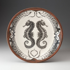 Small Round Platter: Seahorse