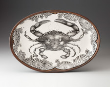 Small Oval Platter: Blue Crab