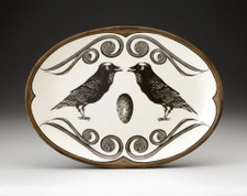 Small Oval Platter: Raven