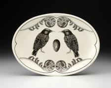 Small Oval Platter: Starling