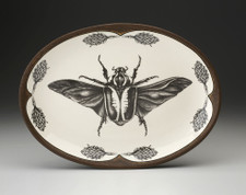 Small Oval Platter: Goliath Beetle Open Wing