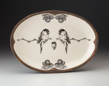 Small Oval Platter: Black-capped Chickadee