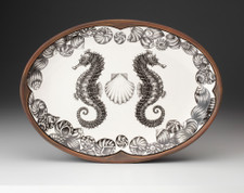 Small Oval Platter: Seahorse
