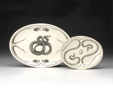Small Oval Platter: Mexican Rat Snake (shown at left)