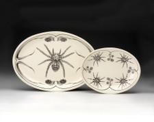 Small Oval Platter: Tarantula (shown at left)