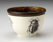 Small Round Bowl: Black Beetle