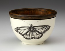 Small Round Bowl: Monarch Butterfly