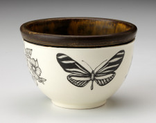 Small Round Bowl: Zebra Butterfly