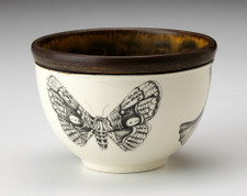 Small Round Bowl: Owl Moth