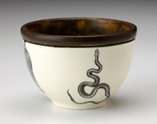 Small Round Bowl: Texas Rat Snake