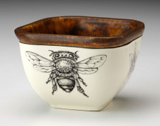 Small Square Bowl: Honey Bee