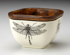 Small Square Bowl: Dragonfly