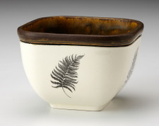 Small Square Bowl: Wood Fern