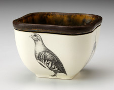 Small Square Bowl: Partridge